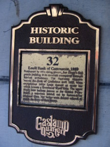 geo SD gaslamp plaque louis bank