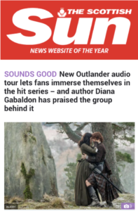 Outlander audio tour in Scottish Sun