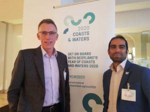 Sail Scotland's Alan Rankin and Geotourist CEO, Shaon Talukder
