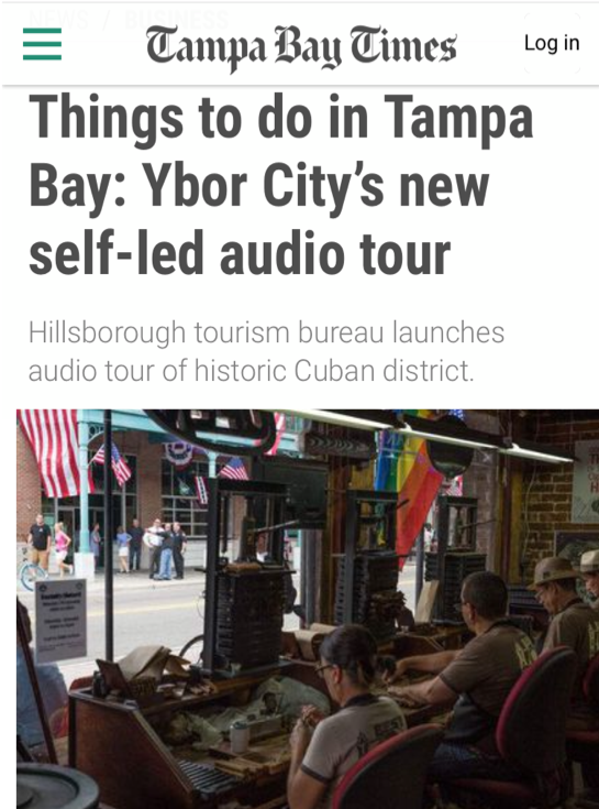 Tampa Bay Times Geotourist article